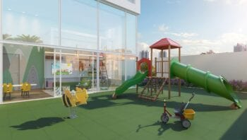 Perspectiva do Parque Infantil e Brinquedoteca do Horto Essence