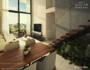 Perspectiva do apartamento 3 quartos do Residencial Oscar Santana