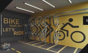 Perspectiva do bicicletário.