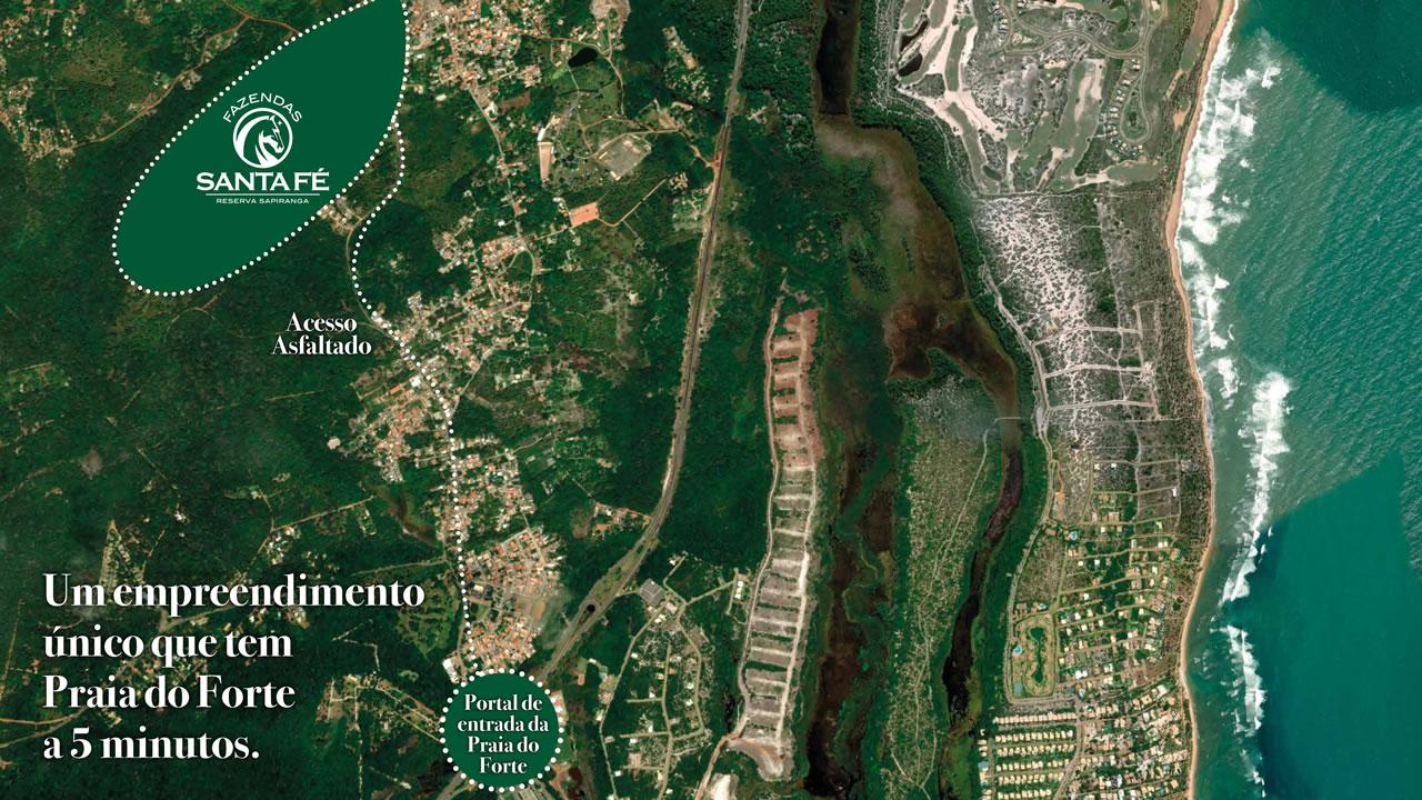 Localização da Fazendas Santa Fé 2