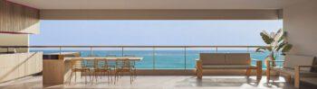 Perspectiva 3 da varanda do Morro Ipiranga Residence