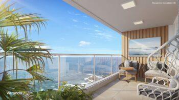 Perspectiva da varanda do Residencial Ilha de Pharos